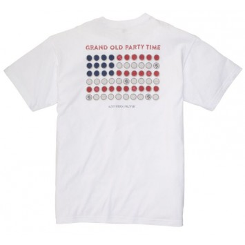 Grand Old Party Tee: White Short Sleeve